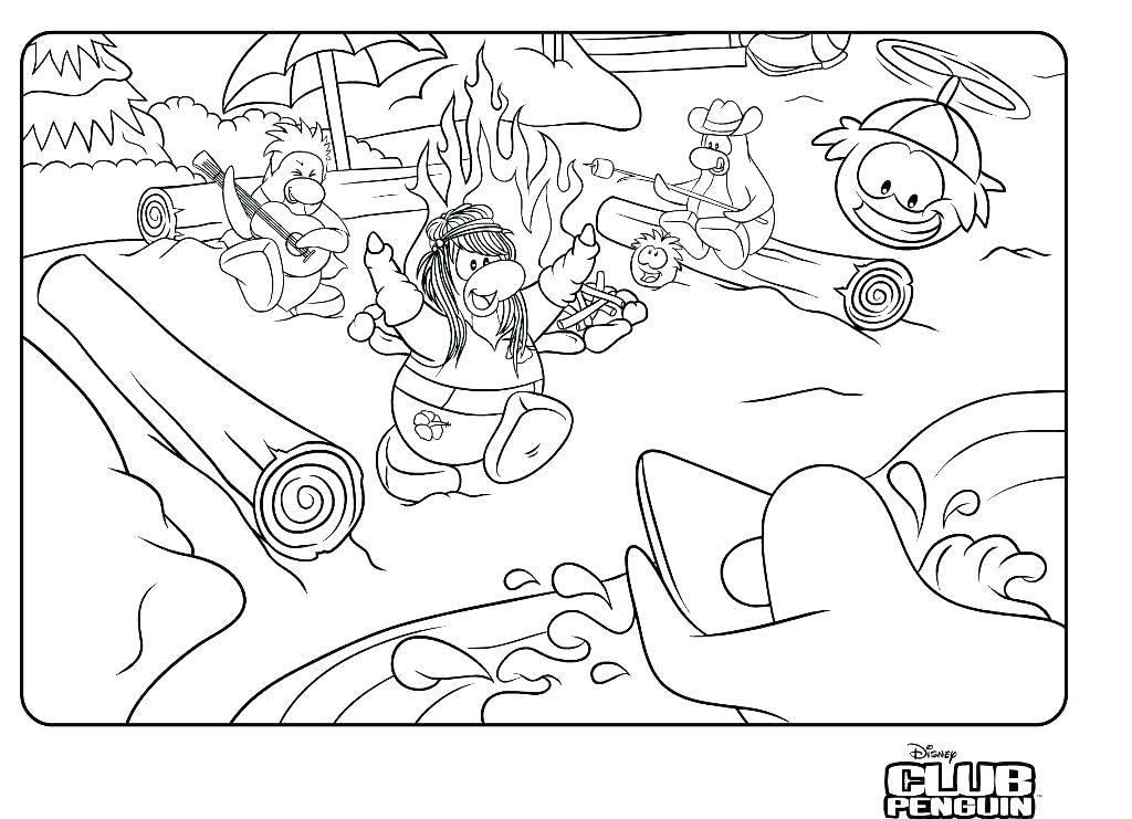 1024x741 Puffle Coloring Page For Kids Coloring Pages Club Penguin Coloring
