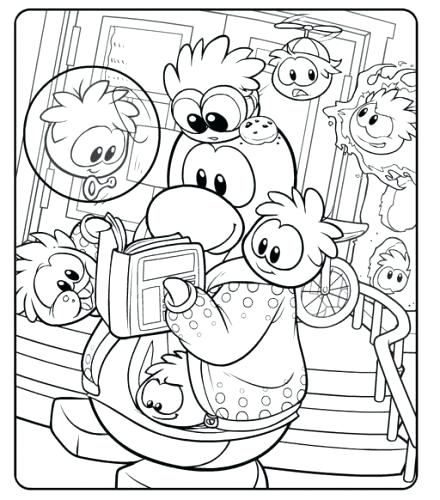440x500 Puffle Coloring Pages Club Penguin Coloring Page Club Penguin