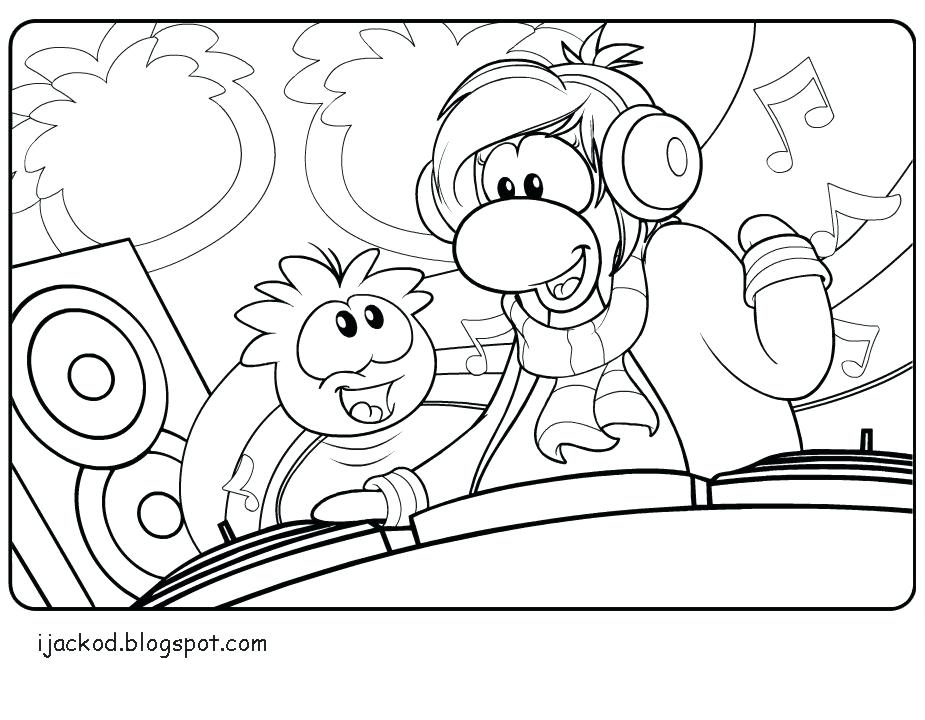 925x720 Puffle Coloring Pages Coloring Pages View Larger Puffle Coloring