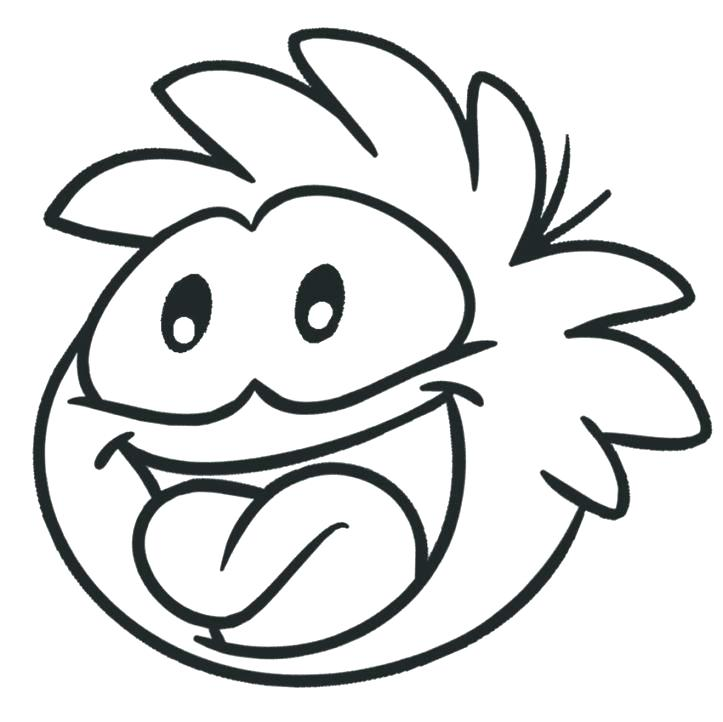 723x722 Puffle Coloring Pages Printable Coloring Pages For Kids Puffle