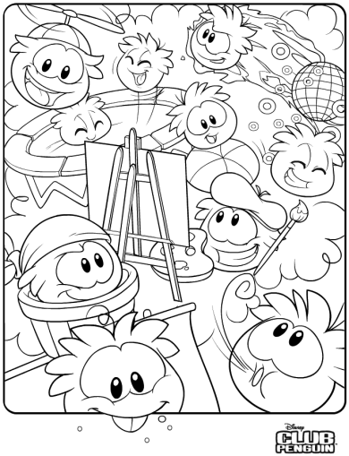 390x509 Saraapril In Club Penguin New Puffle Coloring Page