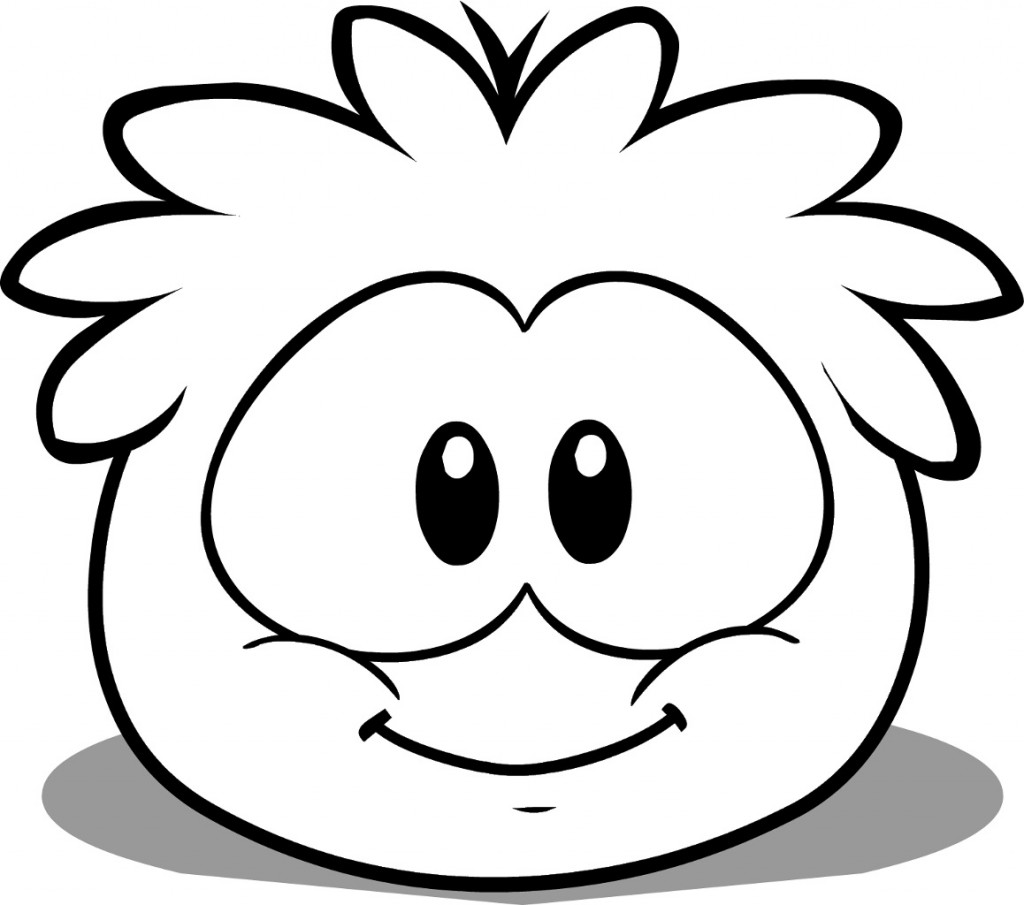 1024x905 Free Printable Puffle Coloring Pages For Kids Penguins And Young
