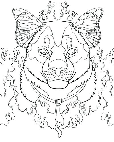 400x499 Mountain Lion Coloring Pages Mountain Lion Coloring Pages Cougar