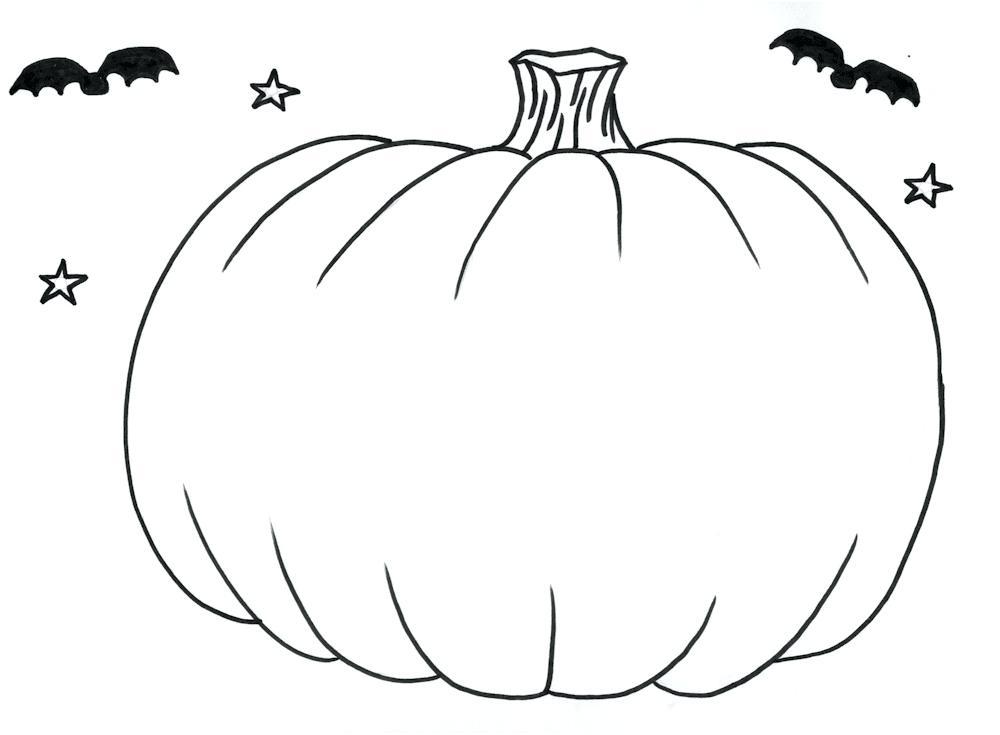 1000x735 Pumpkin Outline Blank Pumpkin Template Coloring Pages Pumpkin