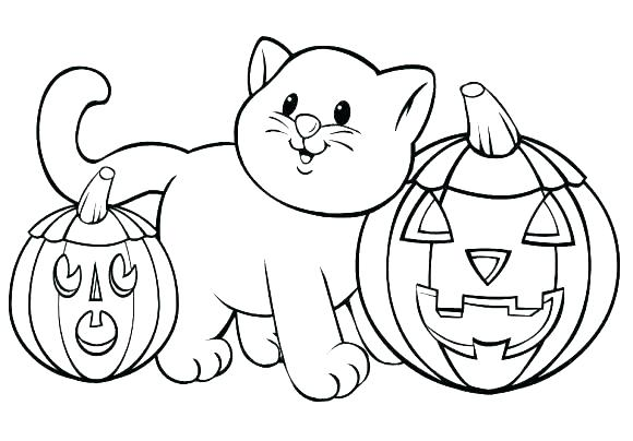 580x404 Pumpkin Coloring Sheets For Preschoolers Blank Pumpkin Printable
