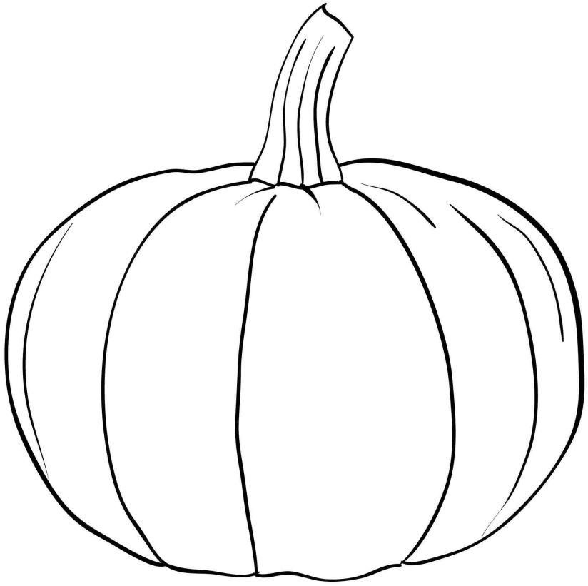 824x821 Coloring Pumpkins Pumpkin Color Pages Cute Cartoon Pumpkin