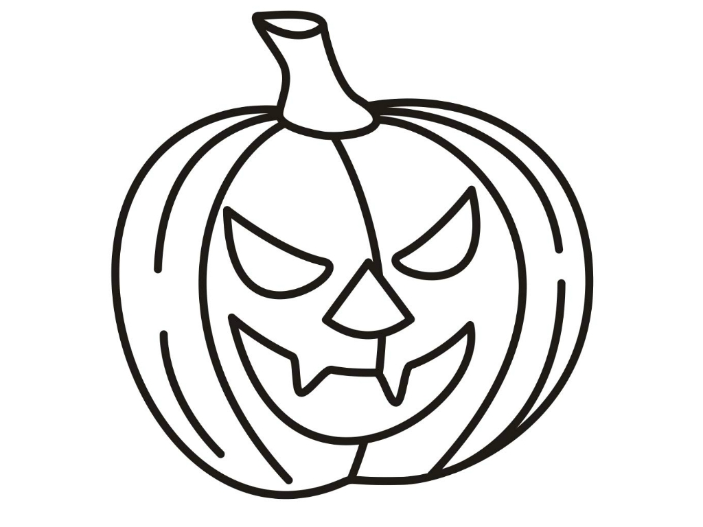 1024x768 Fresh Printable Halloween Coloring Pages To Print Happy Monster