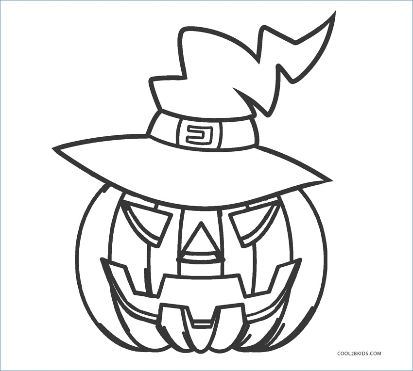 850x765 Halloween Pumpkin Coloring Pages Kids