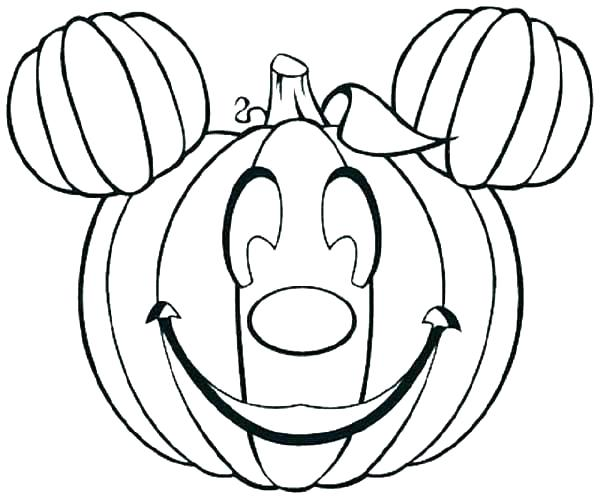 600x499 Free Printable Pumpkin Coloring Pages For Kids Pumpkin Coloring