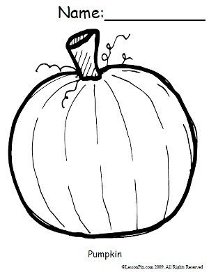 300x390 Free Pumpkin Coloring Sheet Education