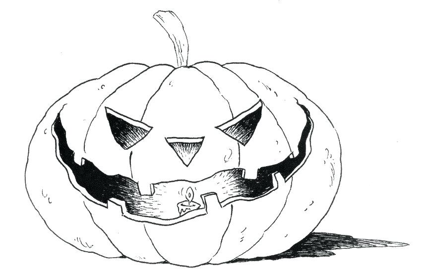 875x550 Pumpkin Coloring Pages Spooky Pumpkin Coloring Sheets