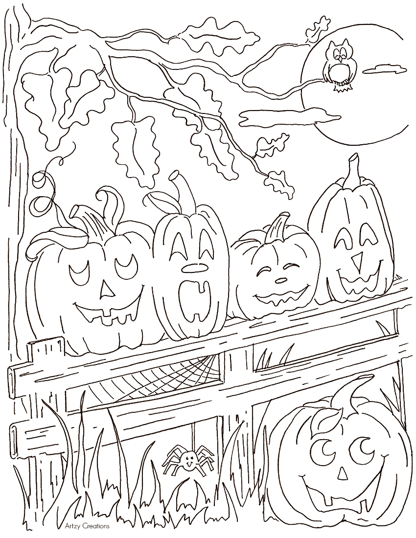 850x1100 Pumpkins Coloring Pages Pumpkin Leaves Christian Pumkin Holidays