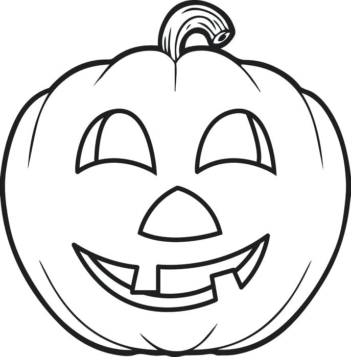 687x700 Preschool Pumpkin Coloring Pages Professional