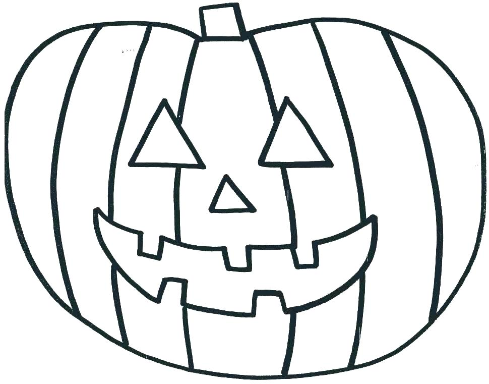Pumpkin Coloring Pages For Toddlers