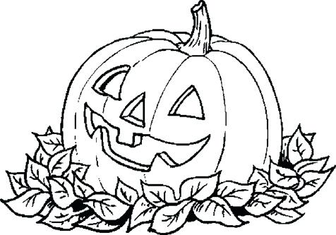 476x333 Happy Halloween Pumpkin Coloring Pages Professional