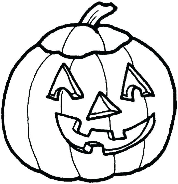 699x721 Pumpkin Coloring Page