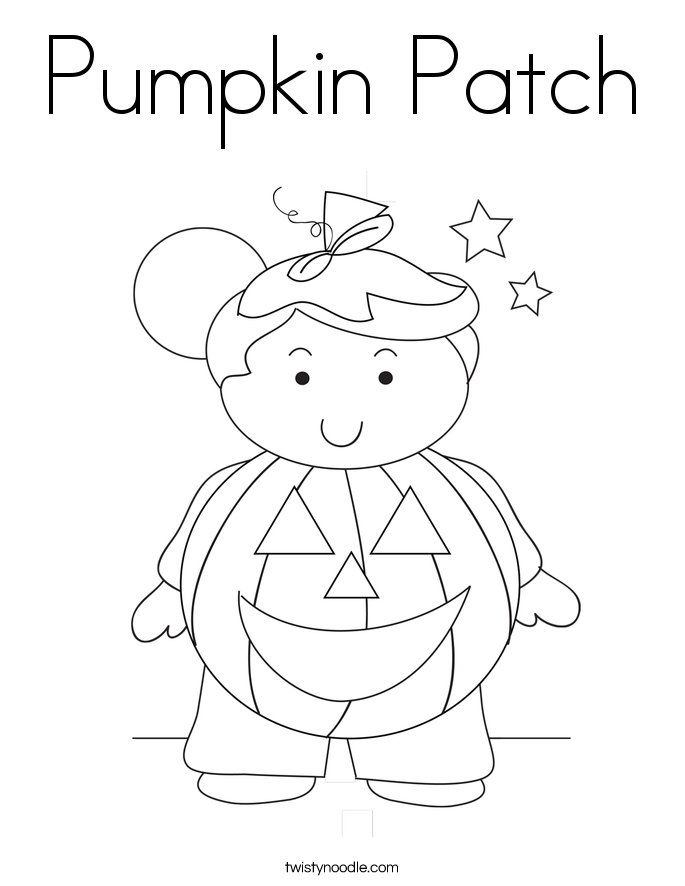 685x886 Pumpkin Patch Coloring Page