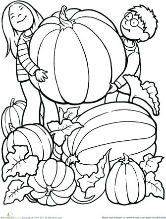 335x440 Pumpkin Patch Coloring Pages Fall Scarecrow And Pumpkins Coloring