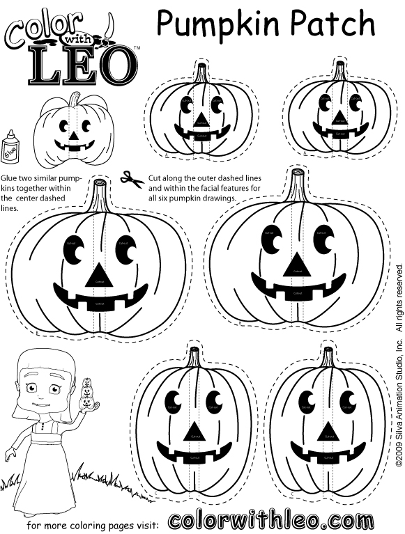 581x767 Pumpkin Patch Coloring Pages Printable Free