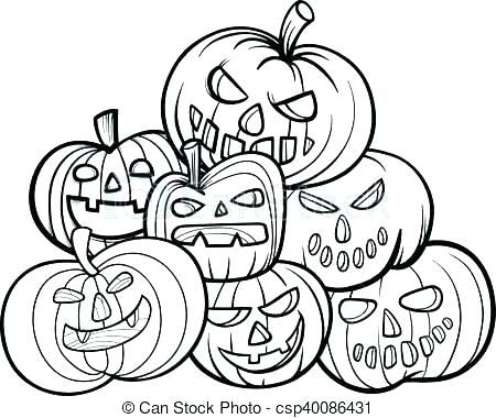 450x380 Scary Pumpkin Faces Coloring Pages Kids Coloring Pumpkin Patch