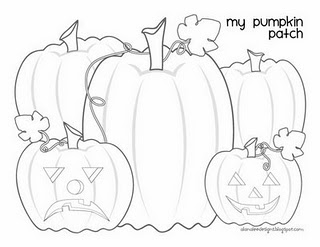 320x247 Pumpkin Patch Coloring Page