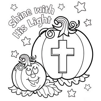 Pumpkin Prayer Coloring Pages