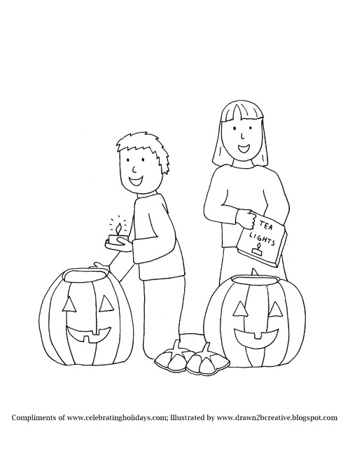 500x647 Pumpkin Carving Coloring Pages With Bible Verses For Halloween