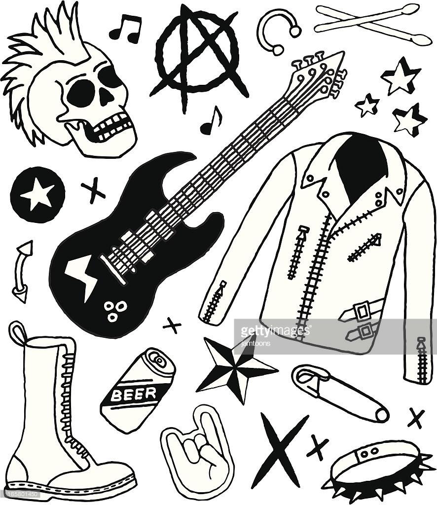 886x1024 Punk R Good Punk Rock Coloring Book