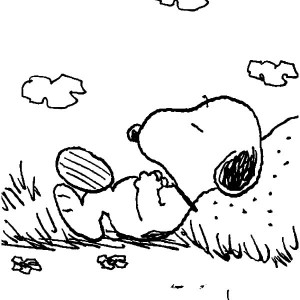 300x300 Snoopy And Charlie Brown Punk Rock Hair Style Coloring Pages