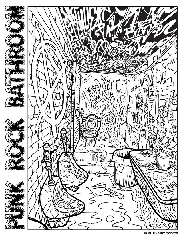 640x828 The Most Terrifying Adult Coloring Book Page Imagineable Gq