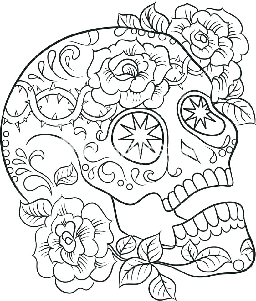 818x960 Red Skull Coloring Pages