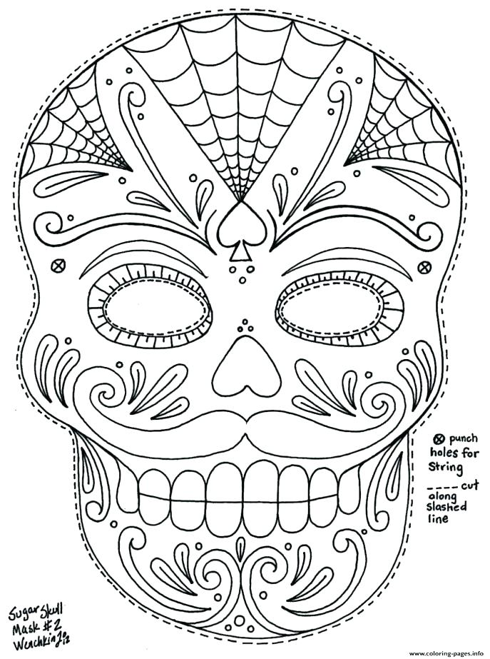 687x923 Skull Coloring Pages Anatomy