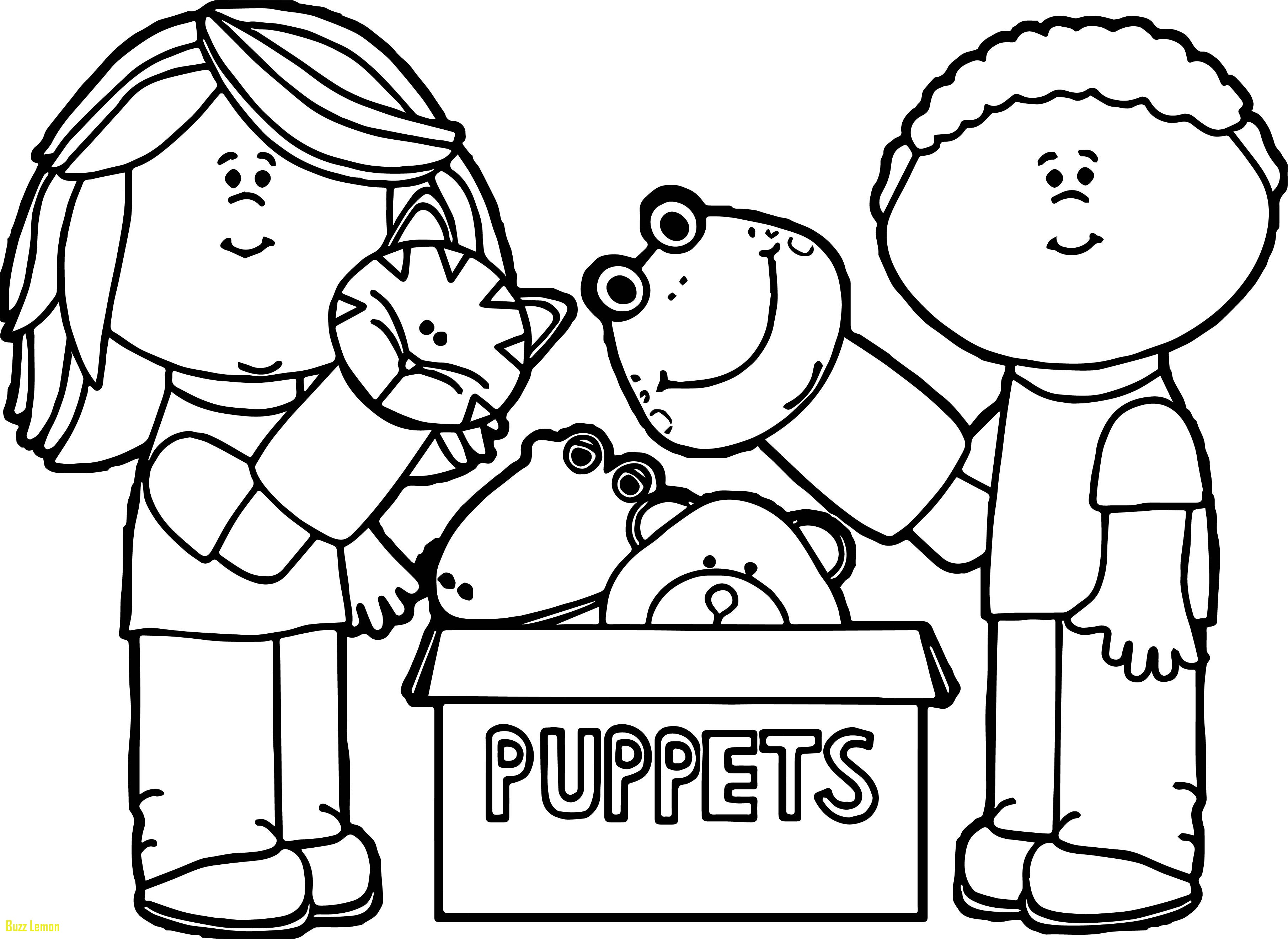 3623x2642 Fresh Coloring Page Puppets Buzz Coloring