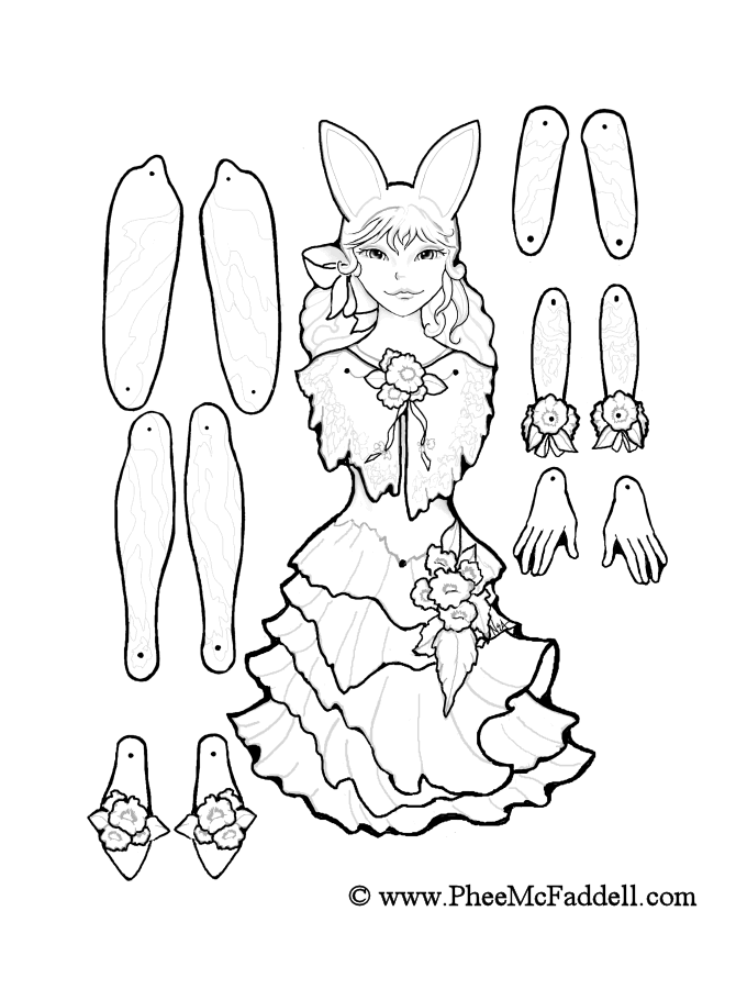 670x900 March Fairy Puppet To Color, Cut Out, Assemble