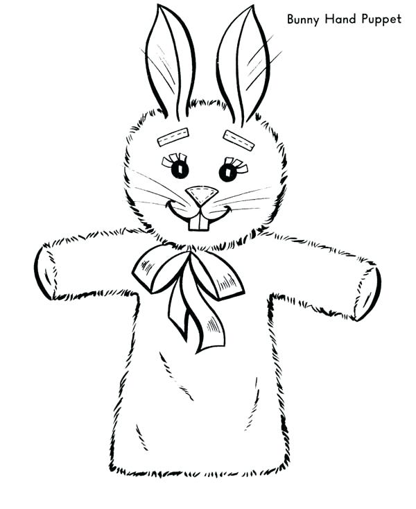 600x734 Puppet Coloring Pages Bunny Hand Puppet Coloring Page Shadow
