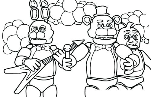 500x323 Puppet Coloring Pages Fun Coloring Pages Five Nights At Coloring