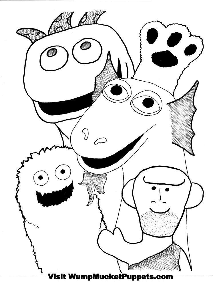 745x1024 Wump Mucket Puppets Free Coloring Pages