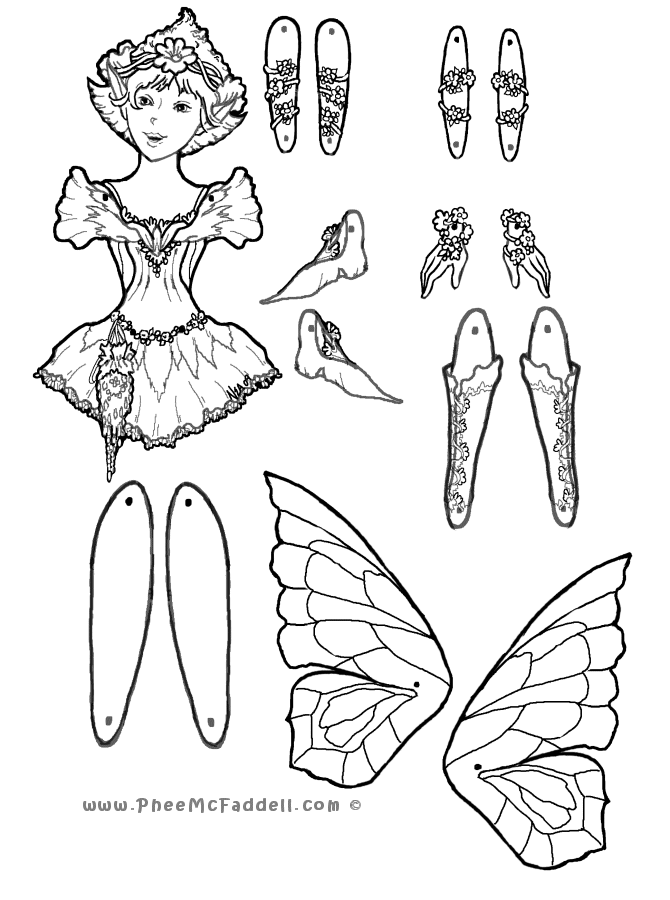 670x900 First Fairy Puppet Coloring