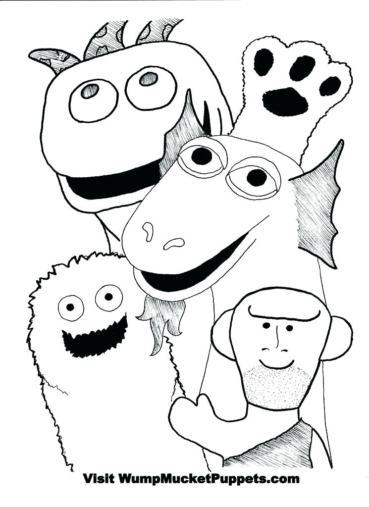 745x1024 Puppet Coloring Pages Coloring Hand Puppets Colouring Pages
