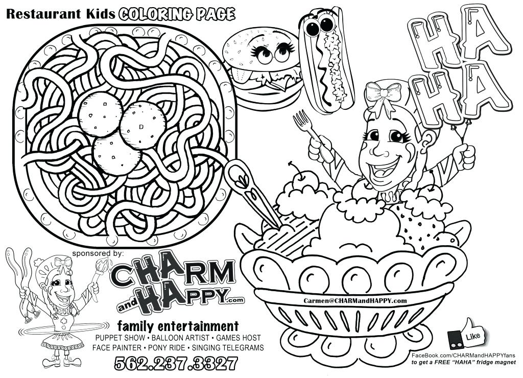1024x740 Restaurant Coloring Pages Coloring Page Restaurant Free Printable