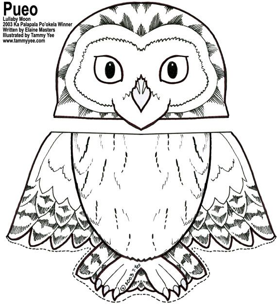576x626 Owl Coloring Pages Free Printables Paper Bag Owl Puppet If You