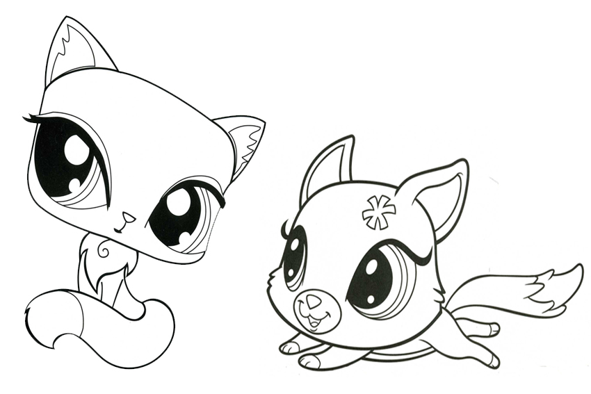 850x567 Littlest Pet Shop Coloring Pages Kitten And Puppy