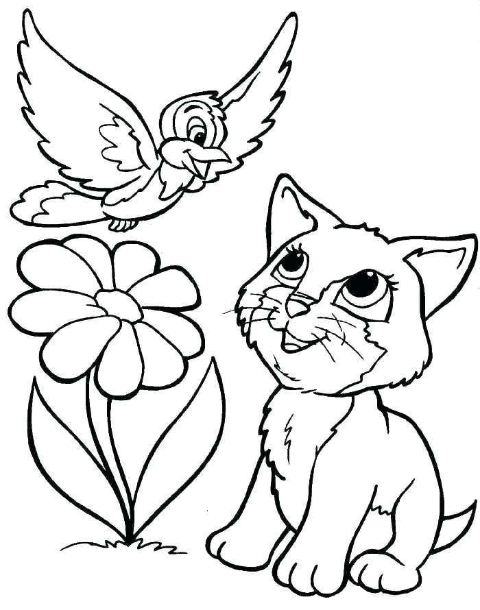 700x890 Printable Kitten Coloring Pages Puppy And Kitten Coloring Pages