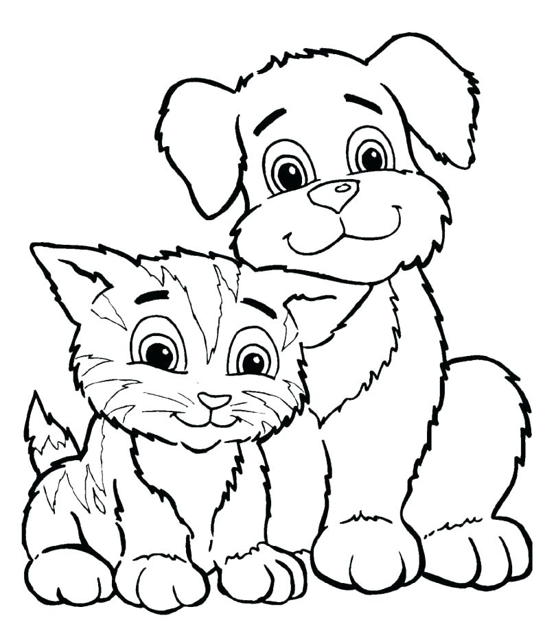 810x939 Puppy And Kitten Coloring Pages Printable Kitten Coloring Pages