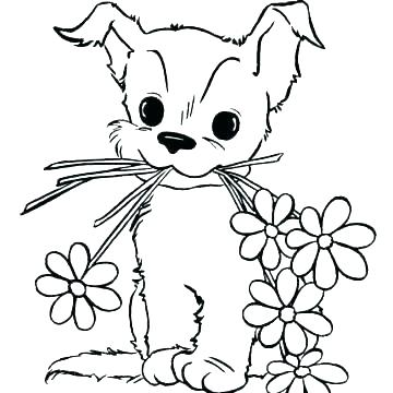 360x360 Free Puppy Coloring Pages
