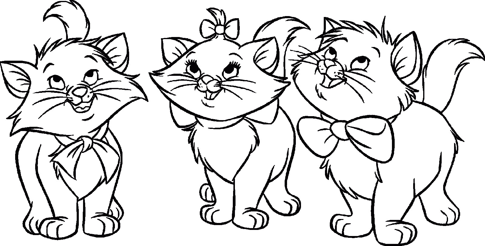 1600x811 Coloring Pages For Puppies And Kittens Puppy Kitten Page