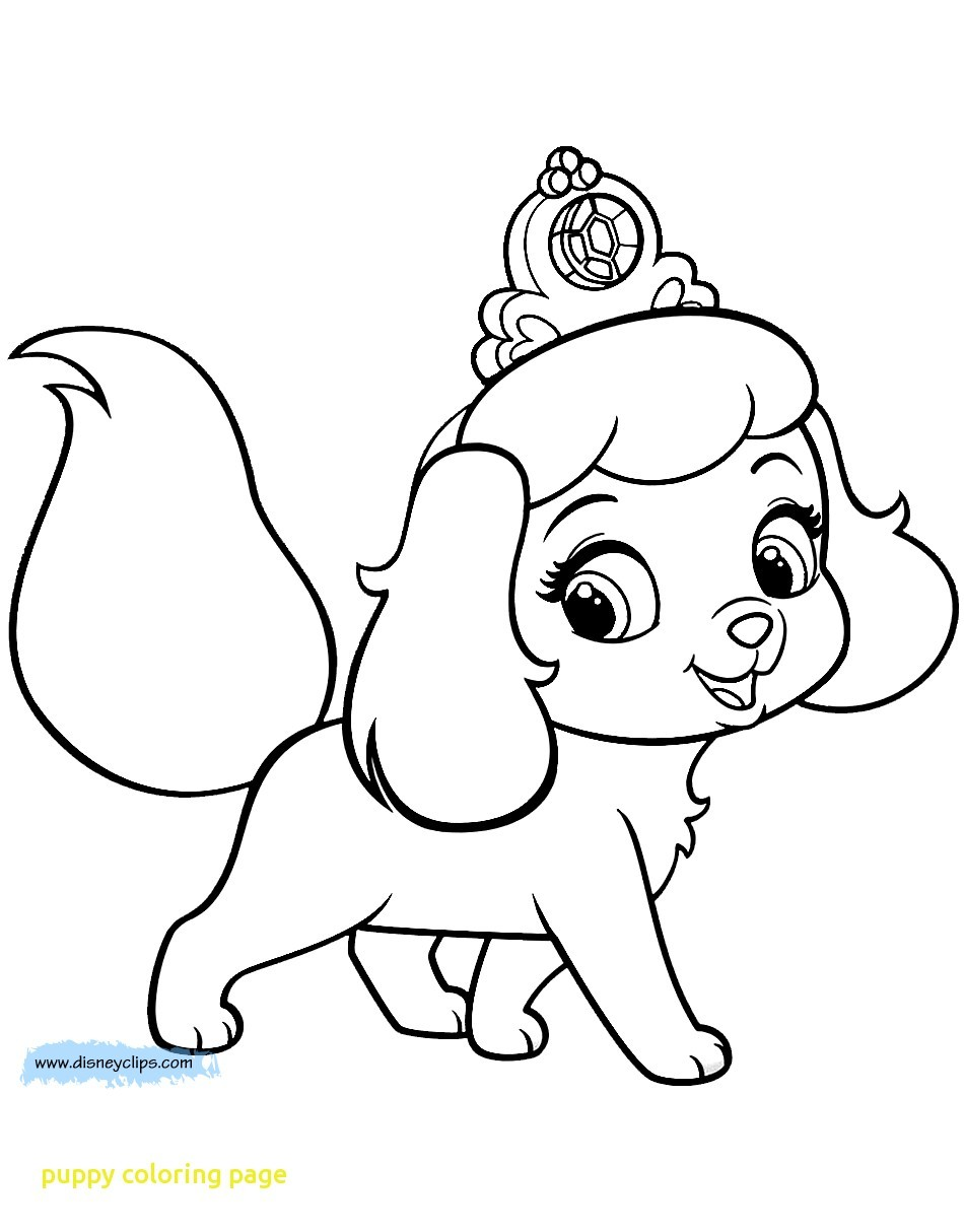 Puppy Cartoon Coloring Pages