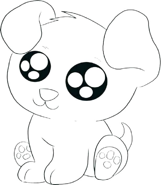 615x705 Cute Cartoon Puppy Coloring Pages