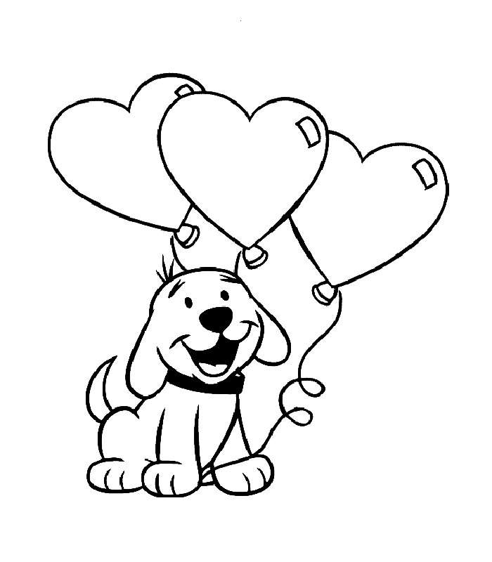 700x800 Cartoon Puppy Coloring Pages
