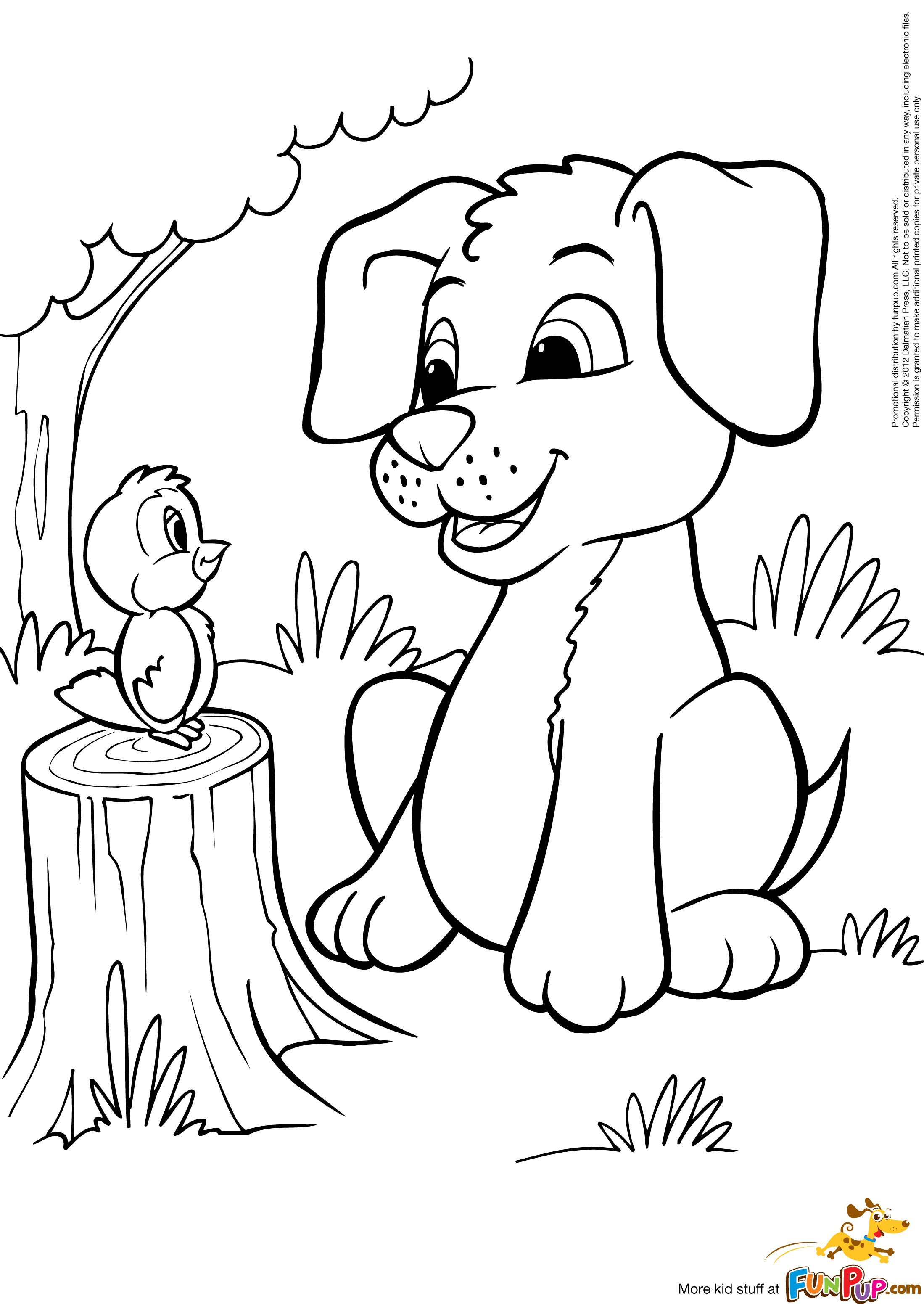 2198x3101 Cartoon Puppy Coloring Pages